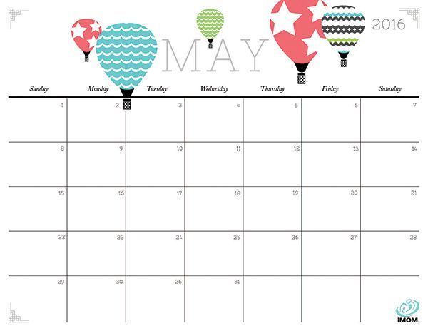 Cute and Crafty 2016 Printable Calendar | The sky and Calendar