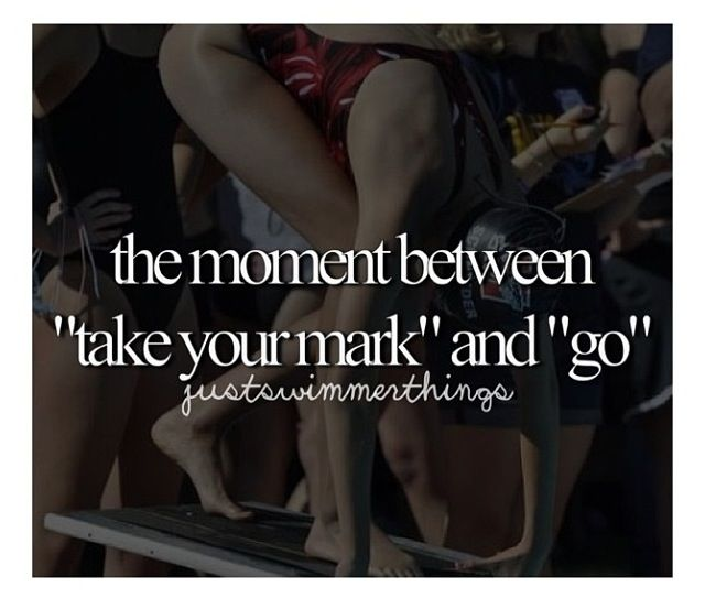 That moment... Is unexplainable. It is like your mind has taken over your whole body and only your mind controls you. It's a swimmer thing