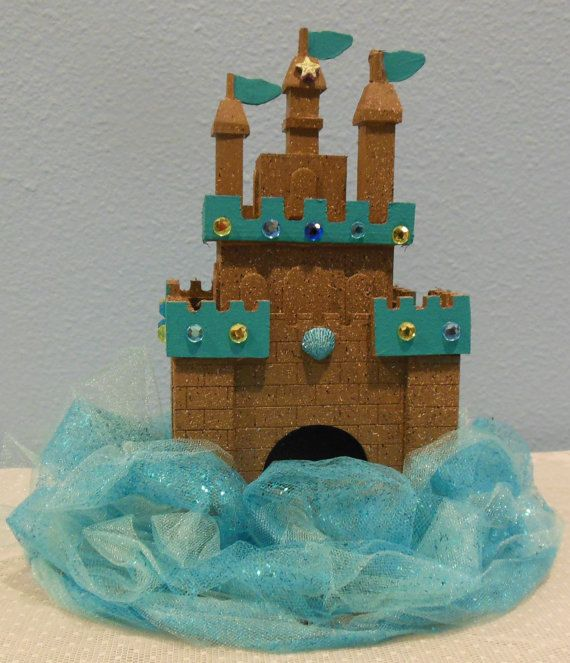 Sand Castle Deluxe Mermaid Party Centerpiece by queensflamingo