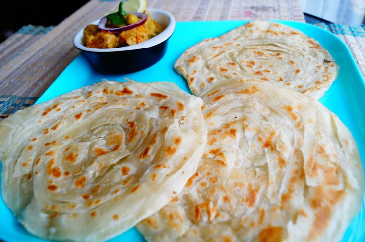 This multi-layered parotta is an exotic dish which is loved by everybody. It goes well with Korma and Raitha.