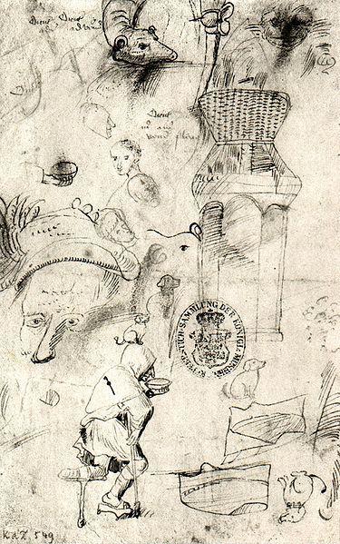 sketches Hieronymus Bosch (circa 1450–1516)
