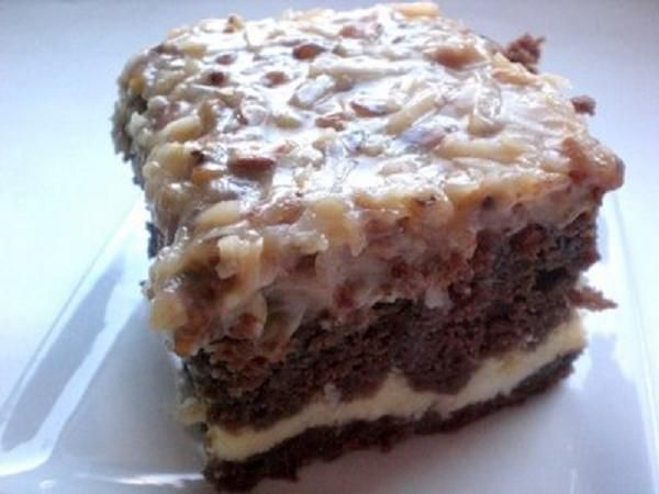 chocolate cream cheese cake german chocolate cake with cheese filling our 2861