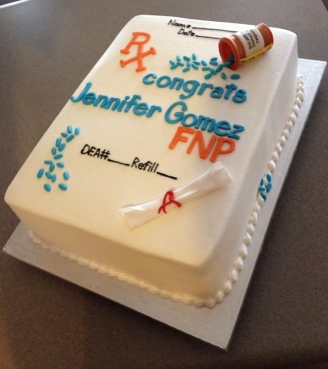Nurse practitioner cake--Can't wait for next August!!!