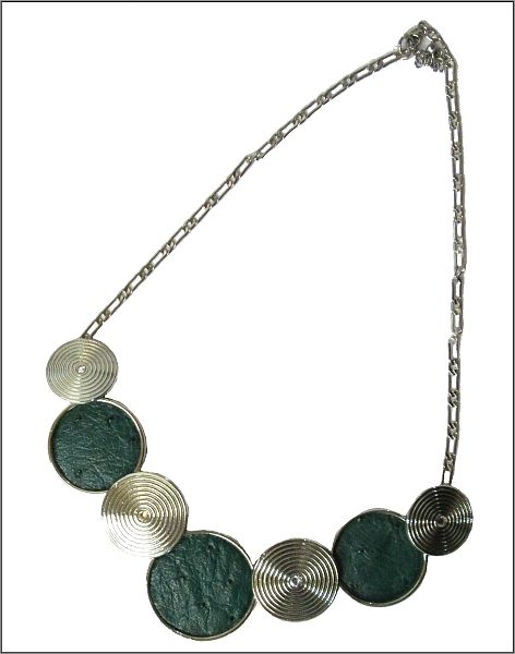 Ostrich Leather necklaces - Brilliant Green ON3R8