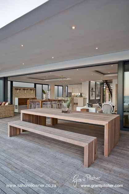 Outdoor Dining Table and benches  can be made to custom specifications and will be quoted accordingly.