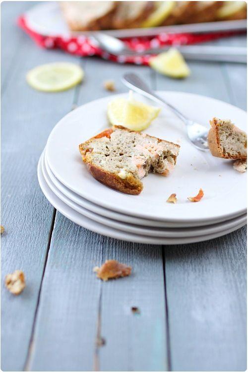 Cake au saumon et à la farine de lentilles vertes
