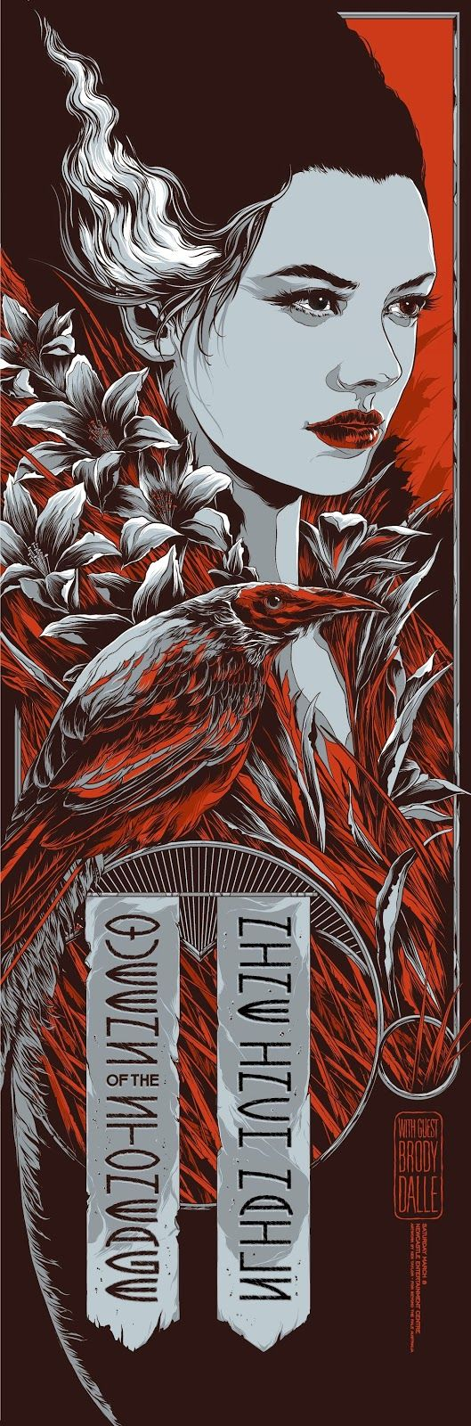 pinterest.com/fra411 #illustration - Ken-Taylor-Nine-Inch-Nails-Queens-of-the-Stone-Age-Sydney-Poster