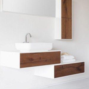 MODERN BATHROOM Heat treated oak, natural, black filling, with used effect WOOD FLOOR White oak without knods  #bathroom #interior #modernbathroom #inspiration #woodbathroom #woodfloor #modular #contrast