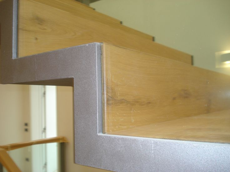 a particular of a Bricola modern stairs