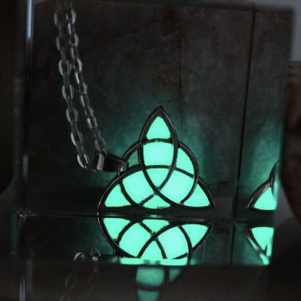 Glowing Celtic Knot Pendant