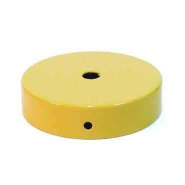 Comprar | Florón de techo metálico color amarillo 80mm | Rosetones metal colores #handmade #decoracion #lamparas #accesorioslamparas #iluminacion #fabricartulampara