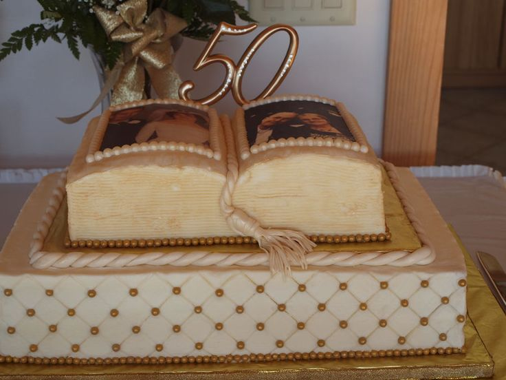 50th Anniversary cake I made for my wonderful Aunt and ...