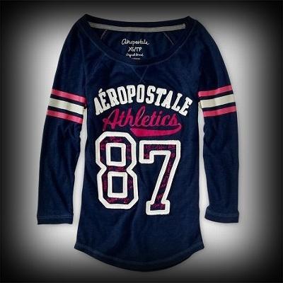 エアロポステール レディース Tシャツ Aeropostale 34 Sleeve Athletics 87 Baseball Tee Tシャツ-アバクロ 通販 ショップ-【I.T.SHOP】 #ITShop