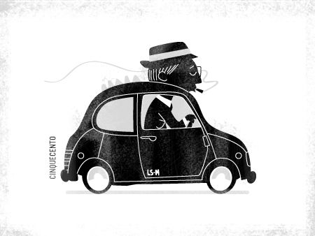 Fiat 500 - Personal work by Luke Seguin-Magee