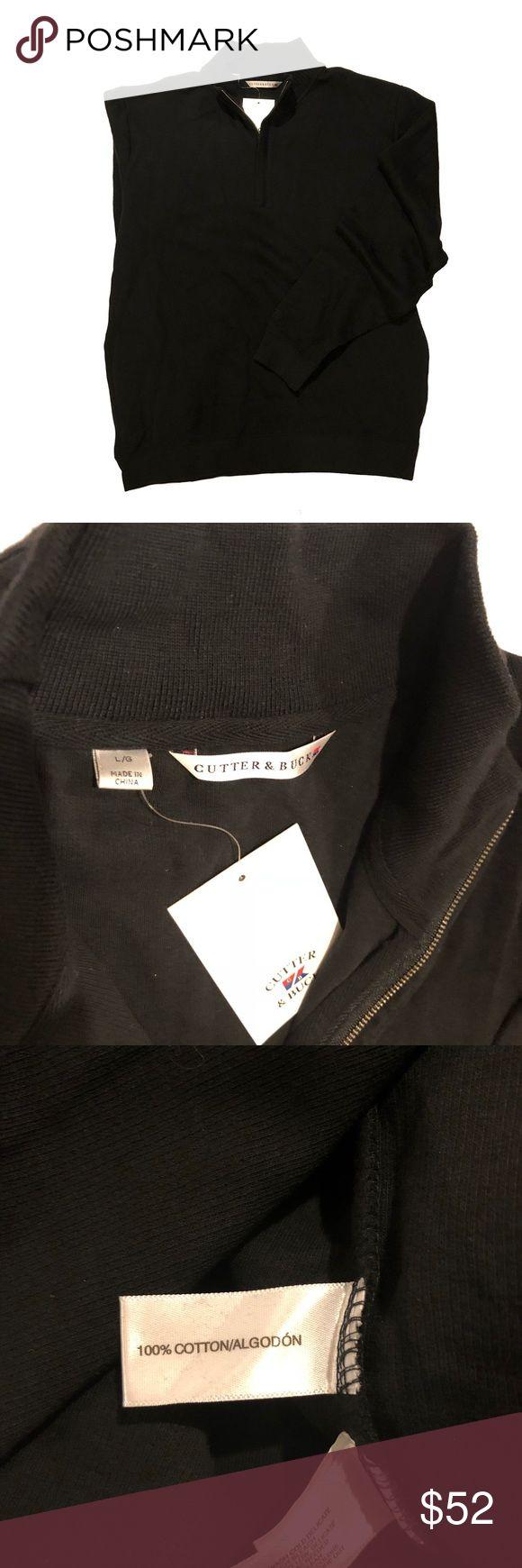 Cutter & Buck Broadview Half Zip Sweater Mock neck, half zip, 100% cotton Cutter & Buck Sweaters