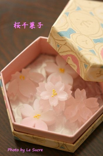 Beautiful Japanese sweets and packaging 桜干菓子 PD