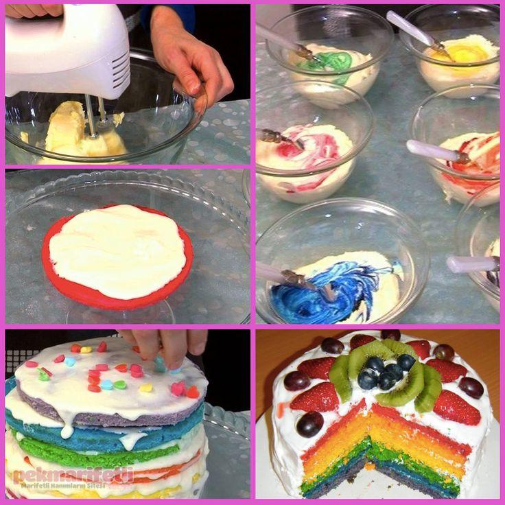 Gökkuşağı pastası nasıl yapılır? | Mutfak | Pek Marifetli!