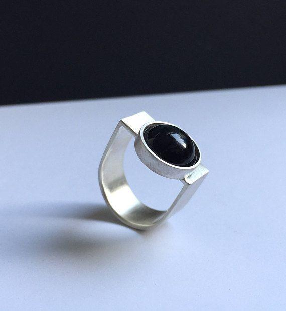 Aparte opvallende mooie moderne sterling zilveren ring met