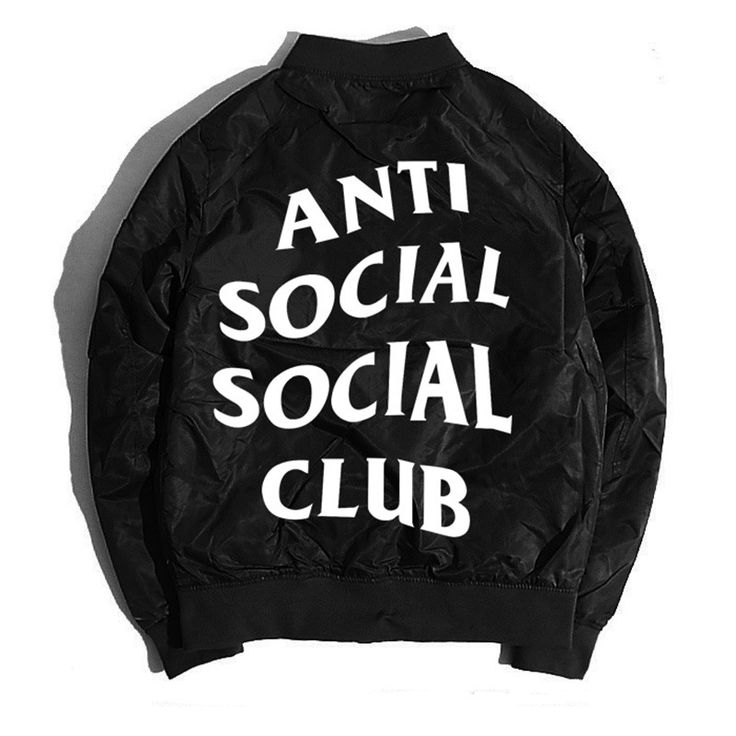 2017 Spring and Autumn thin mens pilot Bomber jacket anti social social club jackets freeshipping #jewelry, #women, #men, #hats, #watches