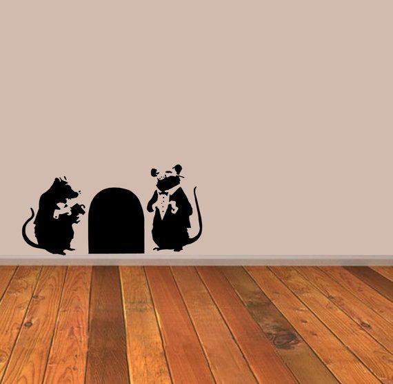 Banksy Rat Doormen Stencil Reusable various by StencilStyleArt