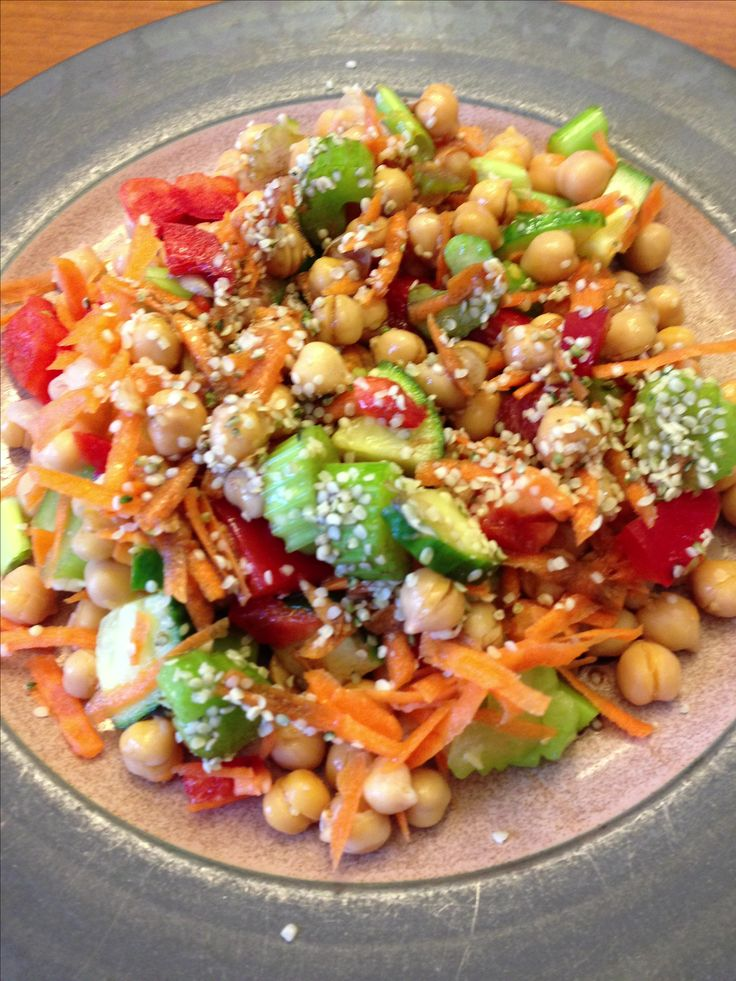 Chickpea salad from Living Lean Cookbook by Mike Dolce. Simple and delicious.