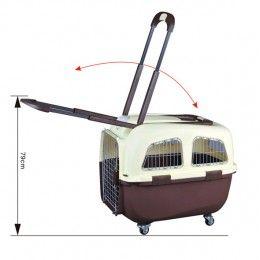 Transportín Routier IATA Talla M marrón para perros