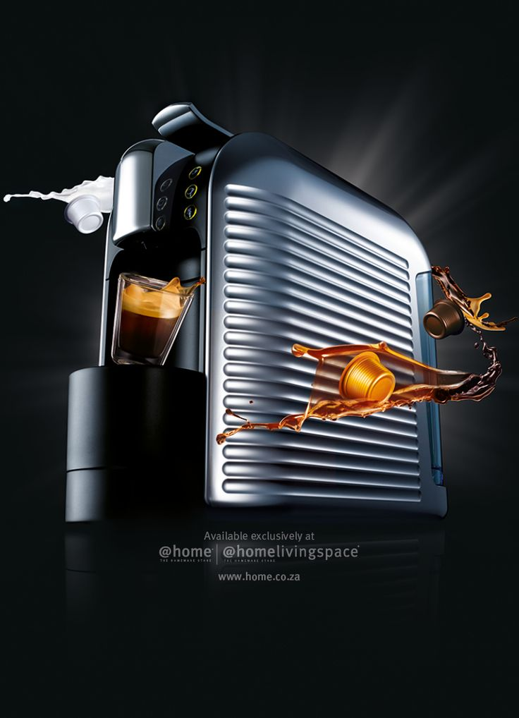 Espresto Wave (Silver) coffee machine. Available in all @home and @homelivingspace stores. www.home.co.za