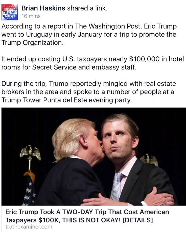 If President Obama or his Wife had done something like this they'd be raising all kinds of hell. MILLIONS are being spent to protect his Rotten Kids as the galavant all over the globe. Millions on protecting Mrs. Trump because she chooses to live in NY (I don't blame her) and now down in Florida at that Golden Shower Whore Ranch Mar largo!!