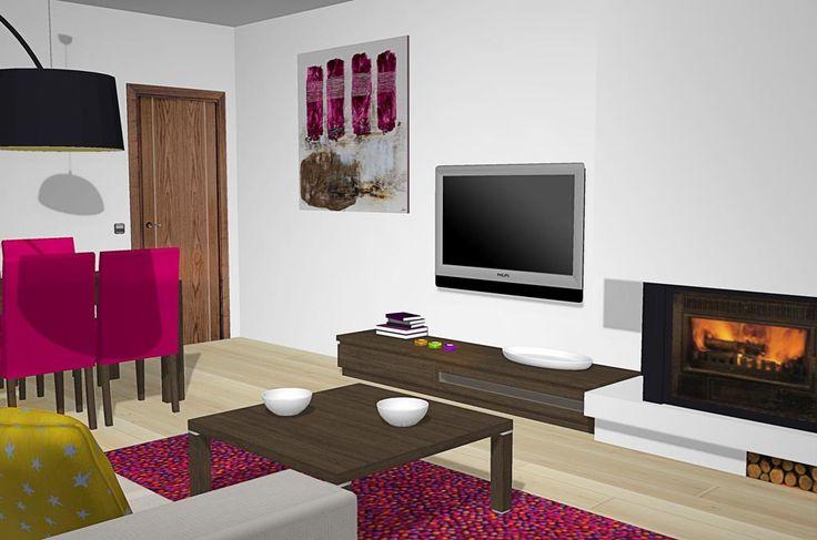 17 mejores ideas sobre chimenea de salas de estar en - Salon rustico moderno ...