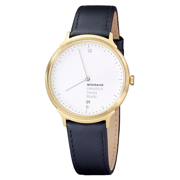 Helvetica Light 38mm (gold/white) | Designer Watches | Dezeen Watch Store