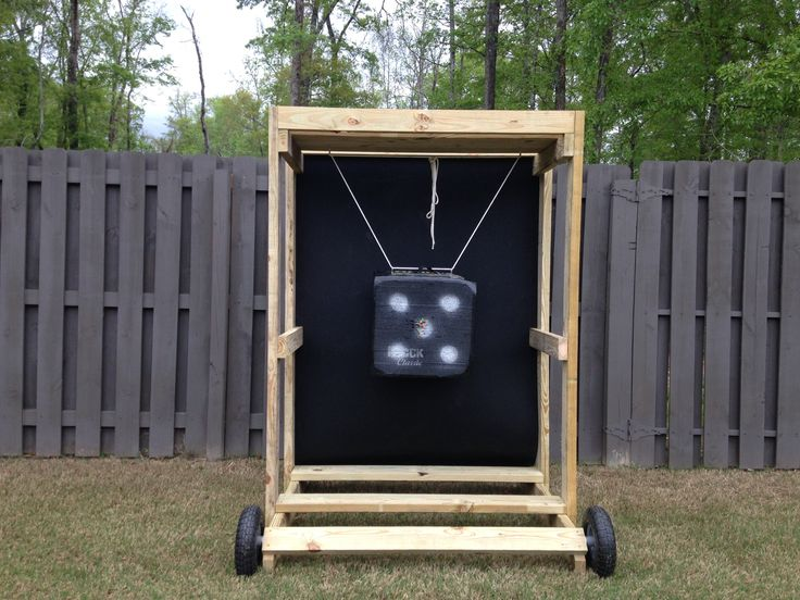 how to make an archery target stand