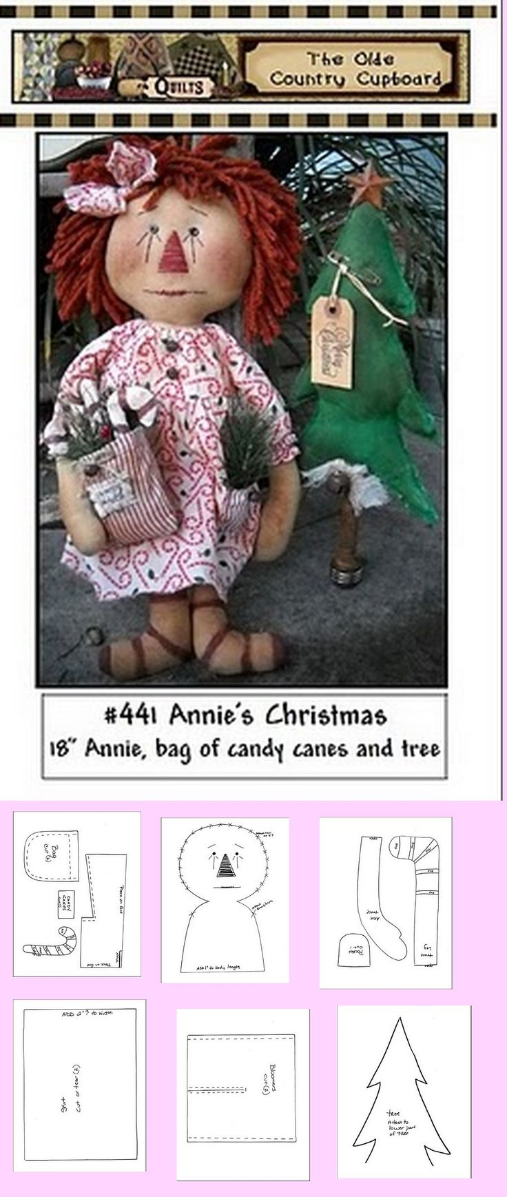 Raggedy Anne with bag of candy canes