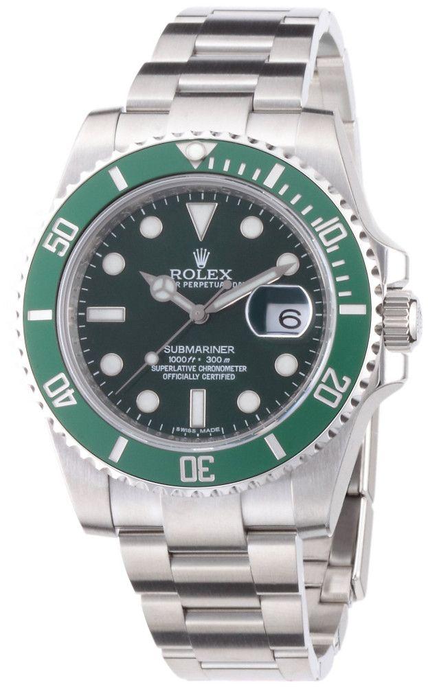 Rolex Submariner Grün Silber