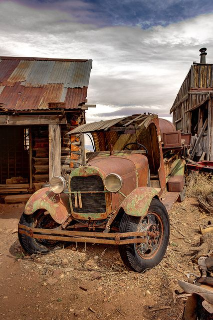 Looks like an old Ghost Town.  Just missing Jethro at the wheel by GatorPiKA, via Flickr