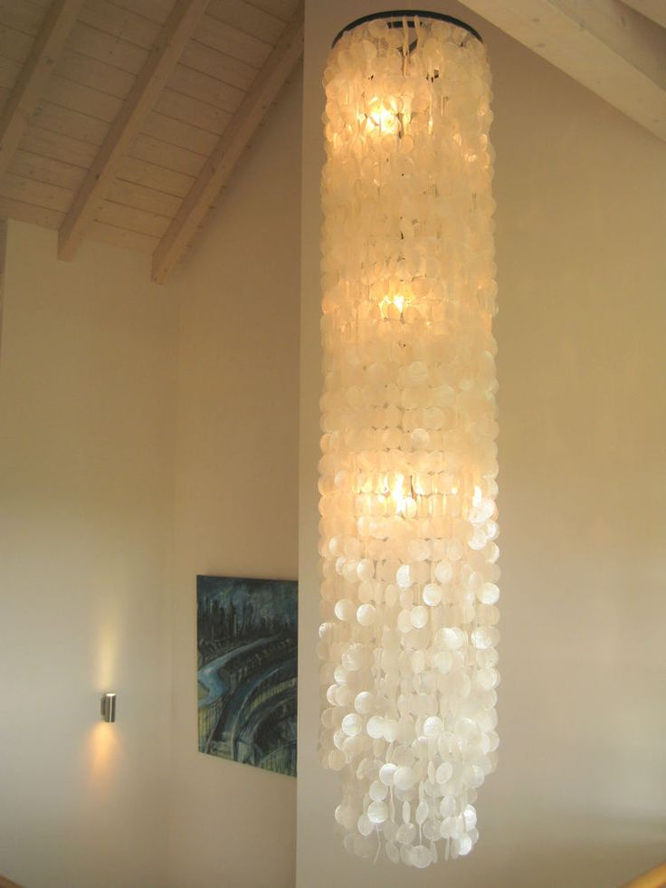 Muschellampe  200cm Shell Lamp Ceiling Muschelleuchte Deckenlampe Deckenleuchte