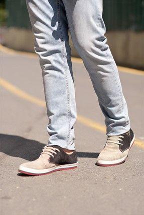 Açık Kahve Lacivert Ayakkabı 5M1540520000533STD Yake   Trendyol