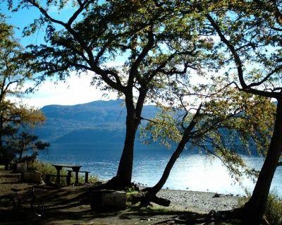Lago Lácar  Este hermoso lago se encuentra ubicado en el Parque Nacional Lanín. en la provincia de Neuquén, y en sus orillas está la ciudad de San Martín de los Andes. El lago Lácar tiene una superficie de 50 kilómetros cuadrados, rodeado de frondosos bosques nativos. Centro turístico muy importante de Argentina.