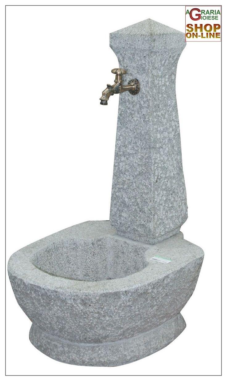FONTANA IN PIETRA GRANITO GRIGIO COMPLETA DI RUBINETTO https://www.chiaradecaria.it/it/arredo-giardino/7049-fontana-in-pietra-granito-grigio-completa-di-rubinetto-8014211068683.html