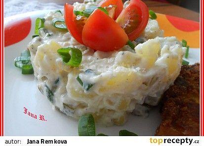 Bramborový salát s česnekem recept - TopRecepty.cz