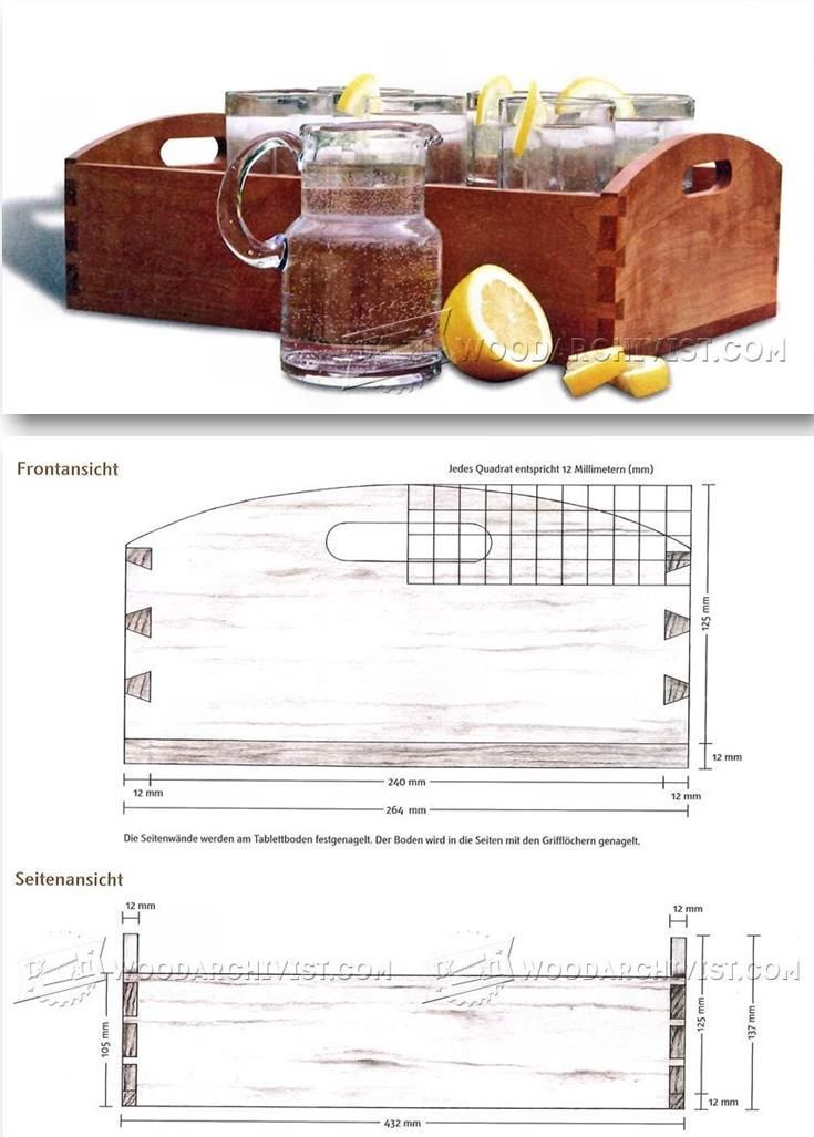 Shaker Tray Plans - Woodworking Plans and Projects   WoodArchivist.com