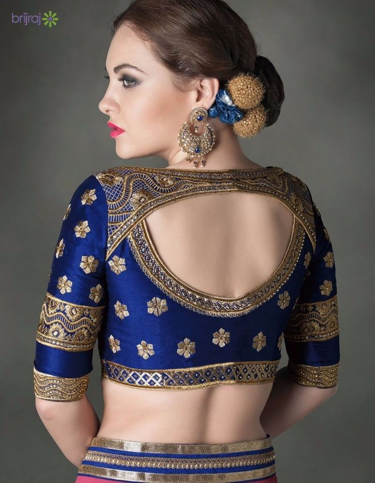 5 Amazing Saree Blouse Back Designs - Brijraj Fashion