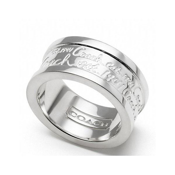 Coach Sterling Multi Script Band Ring  AND I DEF. LIKE THIS ONE: Free Coach, Coach Jewelry Rings, Scripts Bands, Multi Scripts, Bands Rings, Coach Fave, Coach Rings, Scripts Rings, Coach Obsession