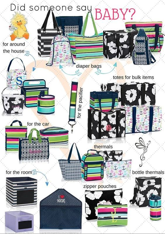 Thirty One has perfect options to help you stay organized with your new baby! i wish i had the double duty caddy for diapers and wipes when my baby was little