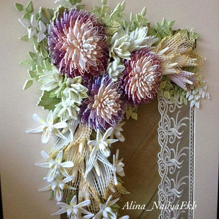 Floral wall deco by alina floral quilling pinterest for Deco quilling