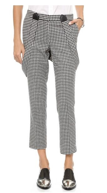 Cigarette Pants in Houndstooth