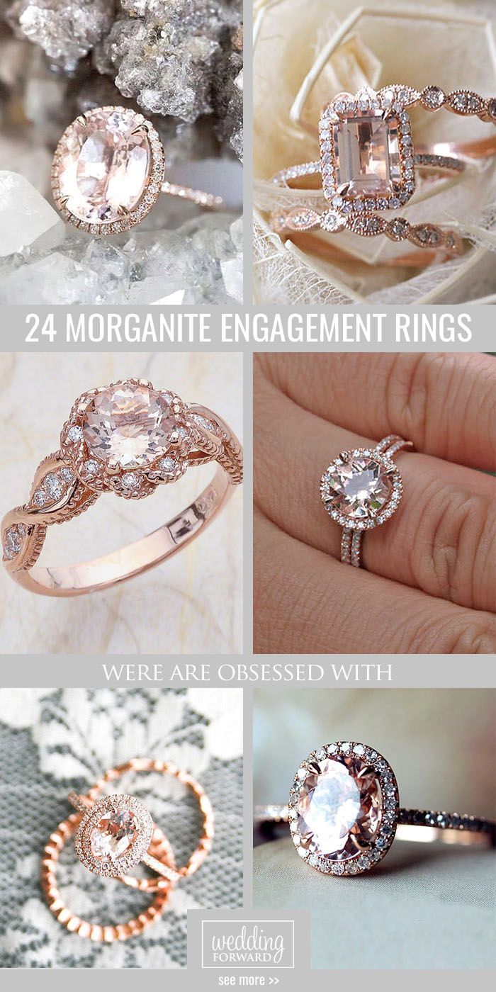 24 Morganite Engagement Rings Were Are Obsessed With ❤ Morganite engagement rings can be good alternative to the traditional diamond rings. See more: http://www.weddingforward.com/morganite-engagement-rings/ #wedding #engagement #rings