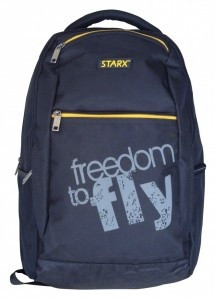 Appealing colors college or school backpack- brand new bags for college goers and school children.    2013 model latest college and school bags with different colors.    Appealing Colors and made up of strong material.    Adjustable cushion shoulder strap with water bottle holder.    STARX-BP-01(Black) with 600x600 denier PVC coated polyester fabric is of 46x33x21 cm dimension.