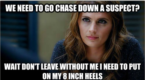 and she wonders why she never catches them. :p I love you, Beckett.