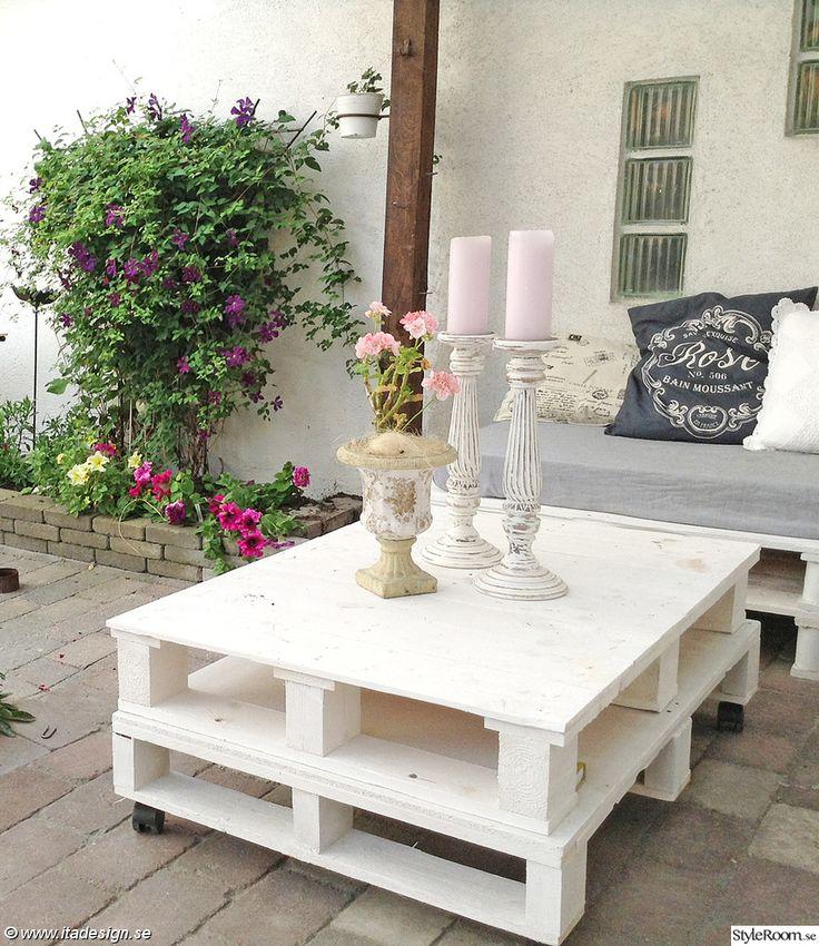 Ett sommarprojekt - lounge gjord av gamla lastpallar. Ett billigt och fint(?) alternativ till färdiga möbler.