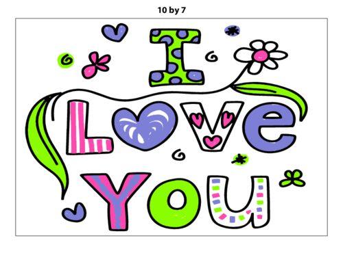 """I Love You"" Poster from KidsPressMagazine.com! #freeprintables #freewallposters #selfconfidence #wallart"